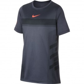 Dětské tenisové tričko Nike Legend Rafa LIGHT CARBON/HYPER CRIMSON