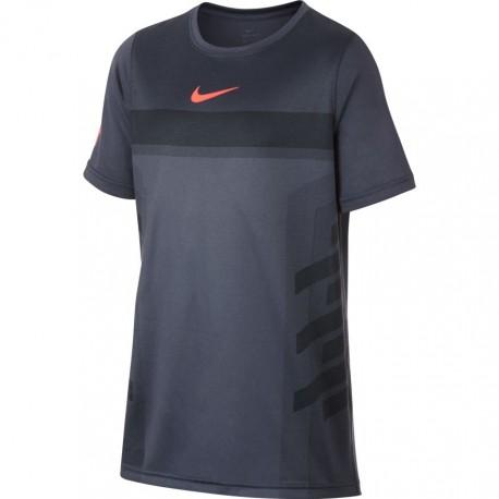 Chlapecké tenisové tričko Nike Legend Rafa LIGHT CARBON/HYPER CRIMSON