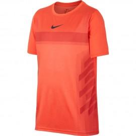 Dětské tenisové tričko Nike Rafa HYPER CRIMSON/GRIDIRON
