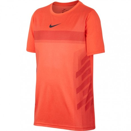 Chlapecké tenisové tričko Nike Legend Rafa HYPER CRIMSON/GRIDIRON