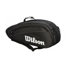 Tenisová taška Wilson FED TEAM 6 PK black
