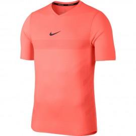 Pánské tenisové tričko Nike Aero React Rafa HYPER CRIMSON/BRIGHT MANGO