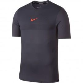 Pánské tenisové tričko Nike Aero React Rafa CARBON/HYPER CRIMSON
