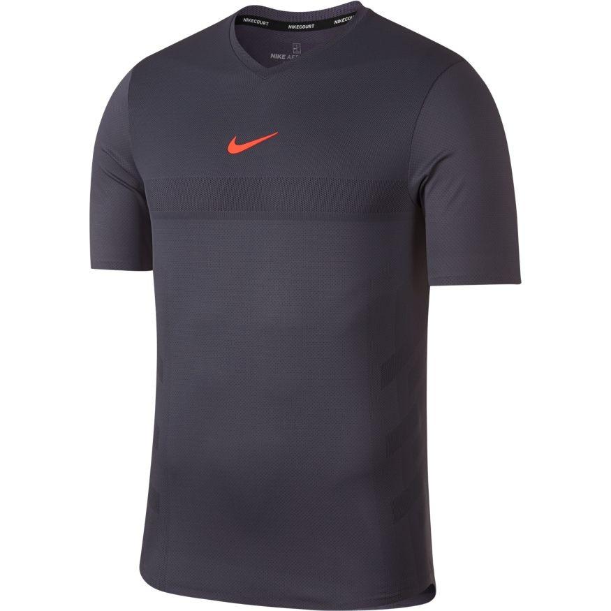 023cc20a87d8 Pánské tenisové tričko Nike Aero React Rafa CARBON HYPER CRIMSON -  Tenissport Březno