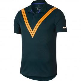 Pánské tenisové tričko Nike ZC RF Advantage MIDNIGHT SPRUCE/GUAVA ICE