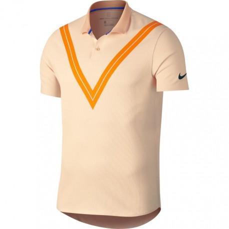 Pánské tenisové tričko Nike ZC RF Advantage GUAVA ICE/MIDNIGHT SPRUCE