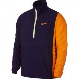 Pánská tenisová bunda Nike Repel BLACKENED BLUE/ORANGE PEEL