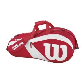 Tenisová taška Wilson Match III 6 PK red