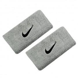 Potítka Nike swoosh doublewide Matte Silver