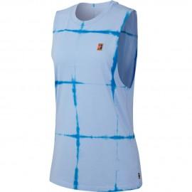 Dámské tenisové tričko Nike Tie Dye Muscle ROYAL TINT