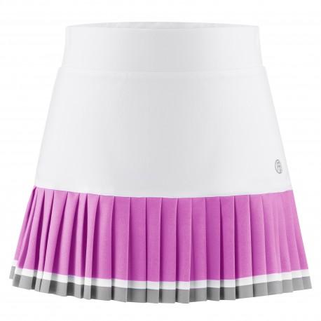 Dívčí tenisová sukně Poivre Blanc white/sakura pink