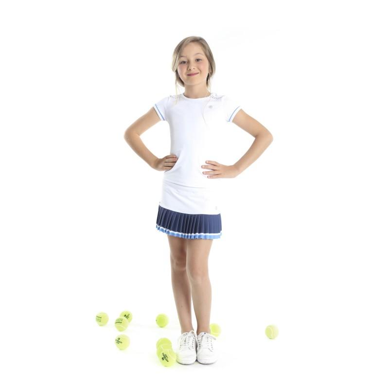 979cb73ae034 Dívčí tenisová sukně Poivre Blanc white sakura pink - Tenissport Březno