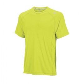 Pánské tenisové tričko Wilson Embossed solar lime