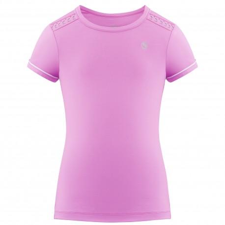Dívčí tenisové tričko Pivre Blanc Short Sleeve sakura pink