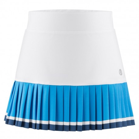 Dívčí tenisová sukně Poivre Blanc white/riviera blue