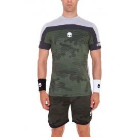 Pánské tenisové tričko Hydrogen Tech Camo Green Grey
