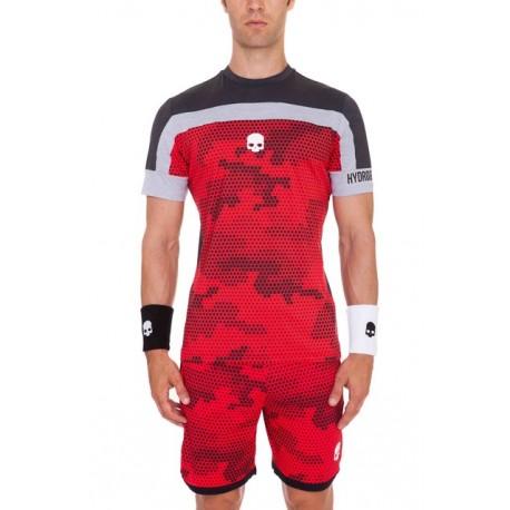 Pánské tenisové tričko Hydrogen Tech Camo Red/Grey
