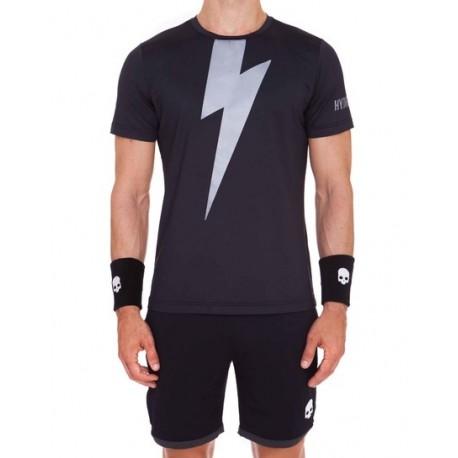 Pánské tričko Hydrogen Thunderbolt black