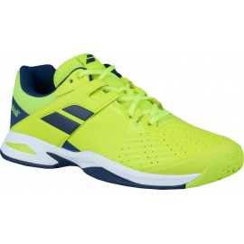 Tenisová obuv Babolat Propulse AC junior yellow/blue