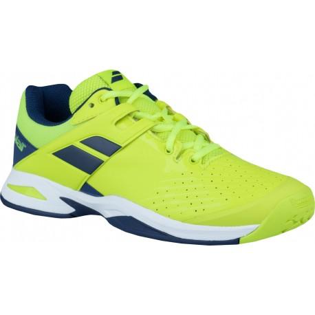 Dětská tenisová obuv Babolat Propulse AC junior yellow/blue