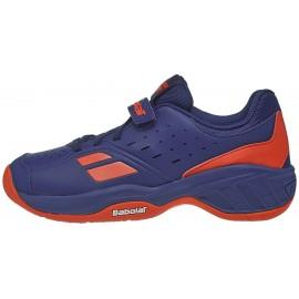 Dětská tenisová obuv Babolat Pulsion AC Blue/orange