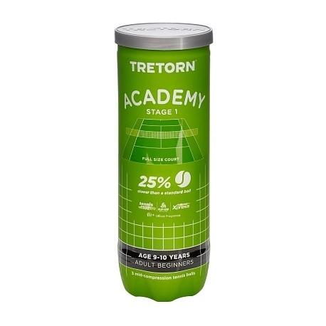 Tenisové míče Tretorn Academy Green 3 ks