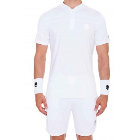 Pánské tenisové tričko Hydrogen Wimbledon Serafino white