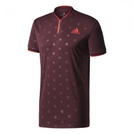 Pánské tenisové tričko adidas London Polo Bordeaux Red