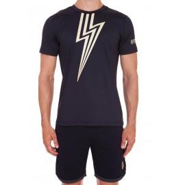 Pánské tričko Hydrogen Flash Tech black gold
