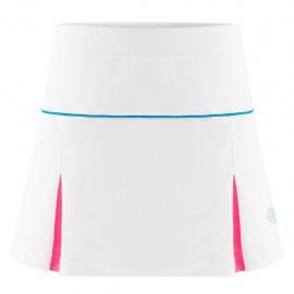 Dívčí tenisová sukně Poivre Blanc white pink