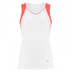 Dívčí tenisové tričko Poivre Blanc Tank white red