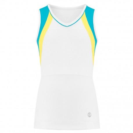 Dívčí tenisové tričko Pivre Blanc white
