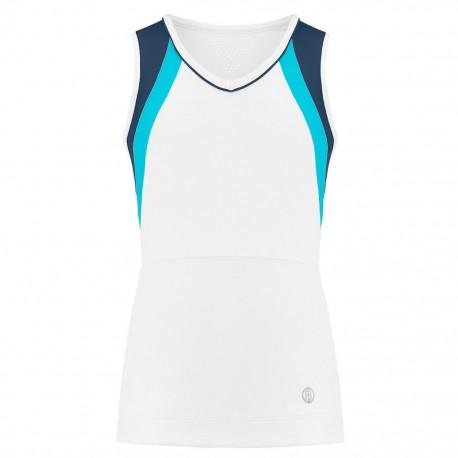 Dívčí tenisové tričko Poivre Blanc Tank white deep blue