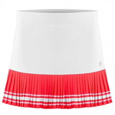 Dívčí tenisová sukně Poivre Blanc white red