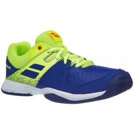 Tenisová obuv Babolat Pulsion clay junior  Blue/fluo aero